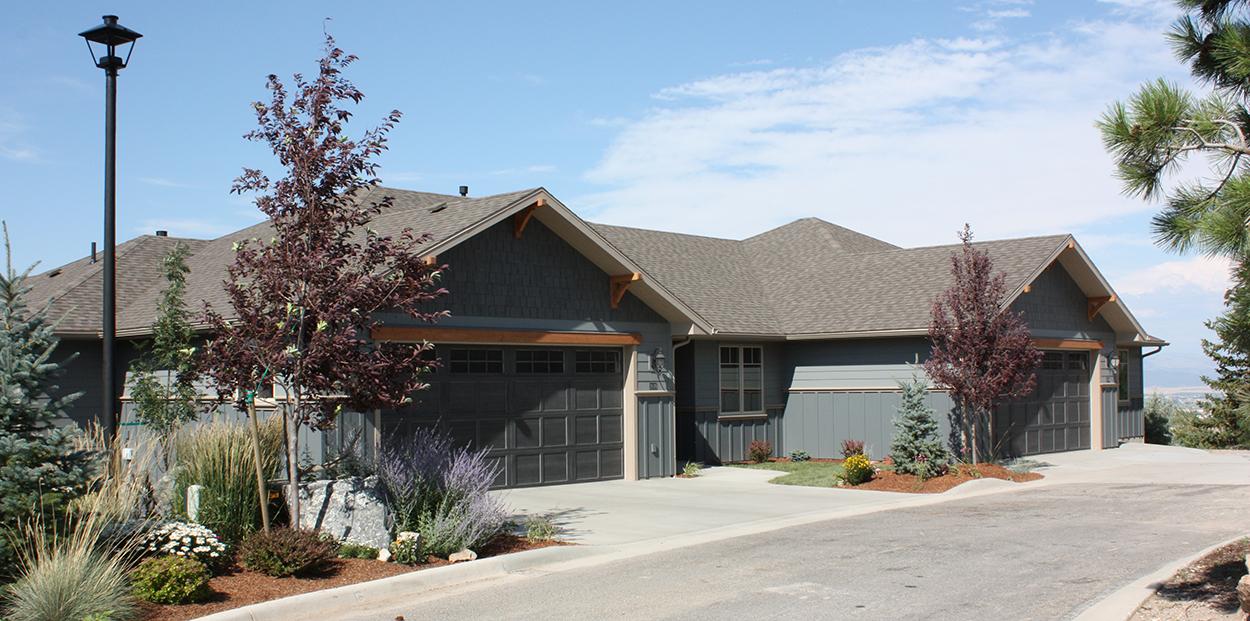 Custom home, residential garage doors